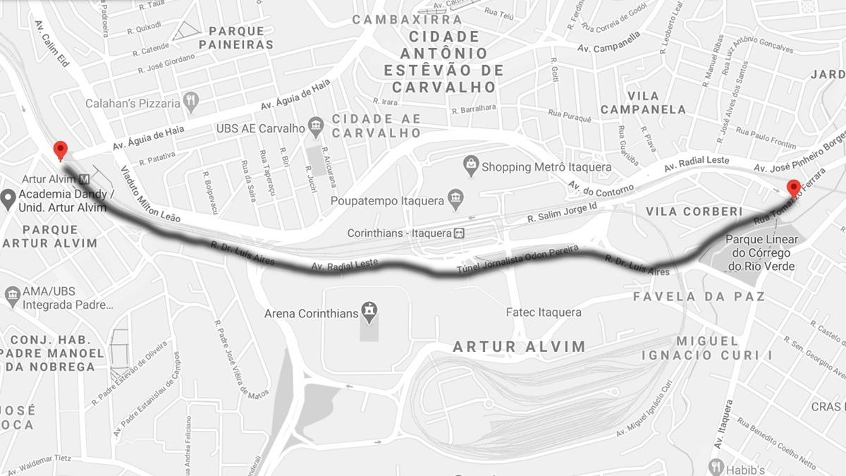 "Rua nas proximidades da Arena Corinthians, em Itaquera, passa a se chamar ""Sport Club Corinthians Paulista"""